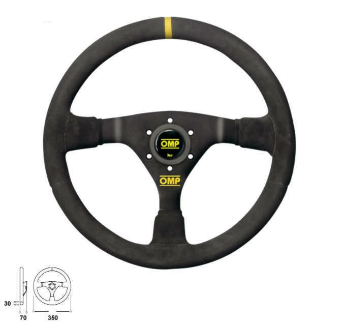 Kierownica OMP Velocita 380 (zamsz) OFFROAD - GRUBYGARAGE - Sklep Tuningowy